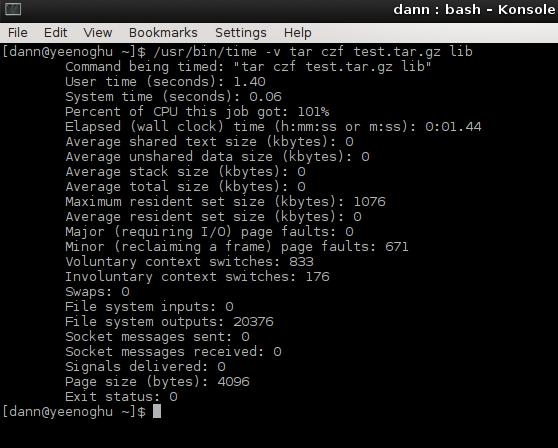 output of /usr/bin/time -v